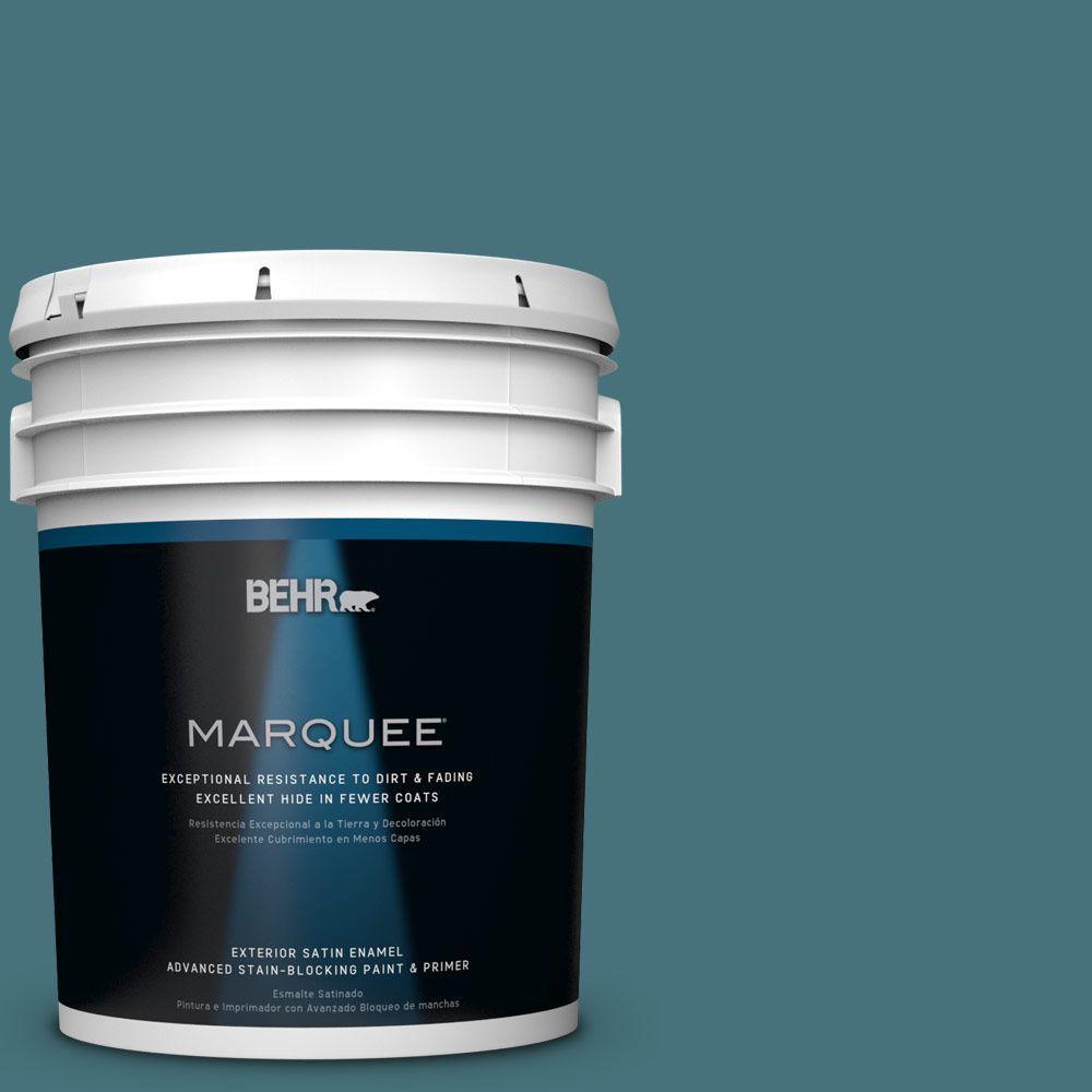5 gal. #HDC-FL15-03 Blue Sage Satin Enamel Exterior Paint