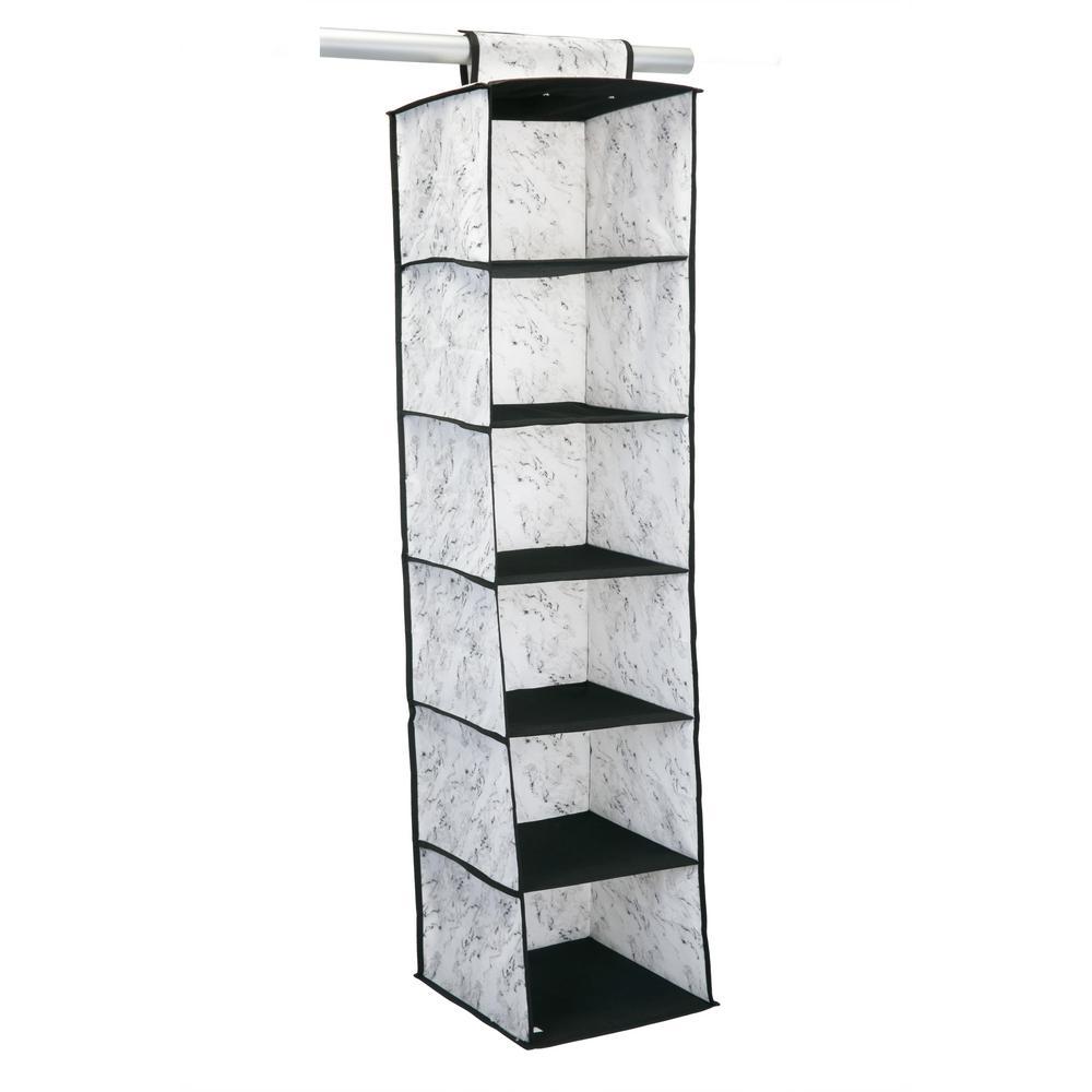 12 in. x 12 in. x 47 in. 6 Shelf Closet Organizer in Marble