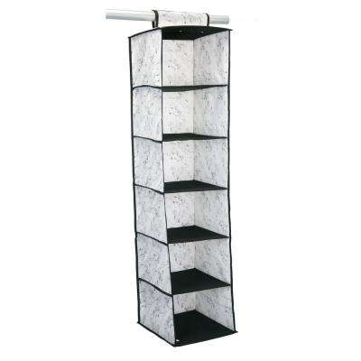 12 in. x 12 in. x 47 in. 6 Shelf Closet Organizer in Marble