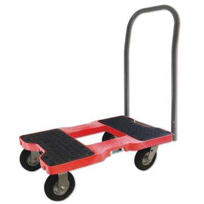 1,500 lb. Capacity Air-Ride Push Cart Dolly in Red