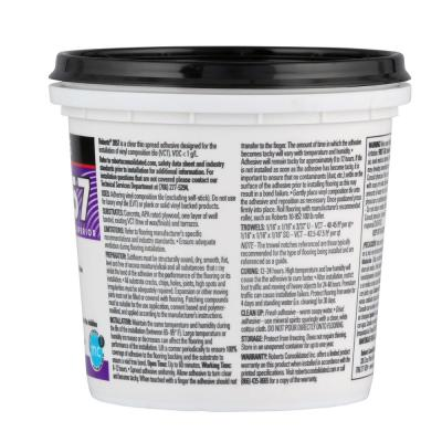 1 Qt. Vinyl Composition Tile Floor Adhesive