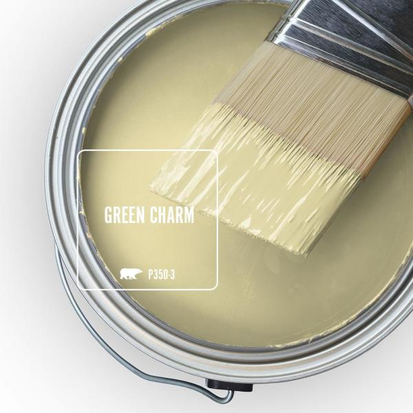 Reviews For Behr Marquee 5 Gal P350 3 Green Charm Semi Gloss Enamel Exterior Paint Primer 545005 The Home Depot