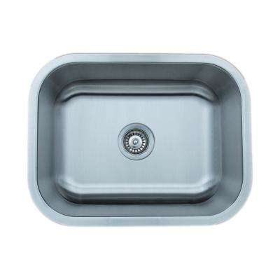 The Craftsmen Series Undermount  Stainless Steel 23 in. Single Bowl Kitchen Sink