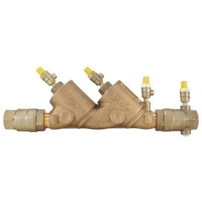 1 in. Lead Free Bronze FIP Double Check Backflow Preventer