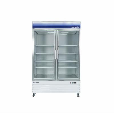 45 cu. ft. Frost Free Commercial Upright Merchandiser Freezer in White