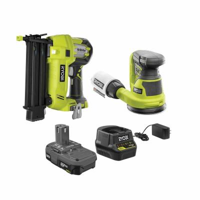 18V ONE+ Cordless 18-Gauge Brad Nailer and 5 in. Random Orbit Sander Combo Kit with (1) 1.5 Ah Battery and Charger