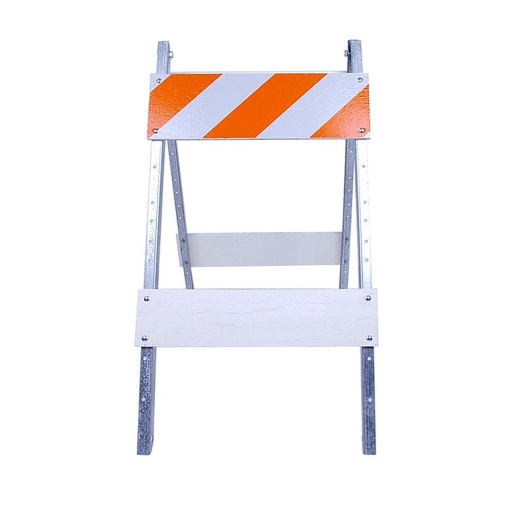 Three D Traffic Works 8 in. Plywood/Metal Type I Barricade