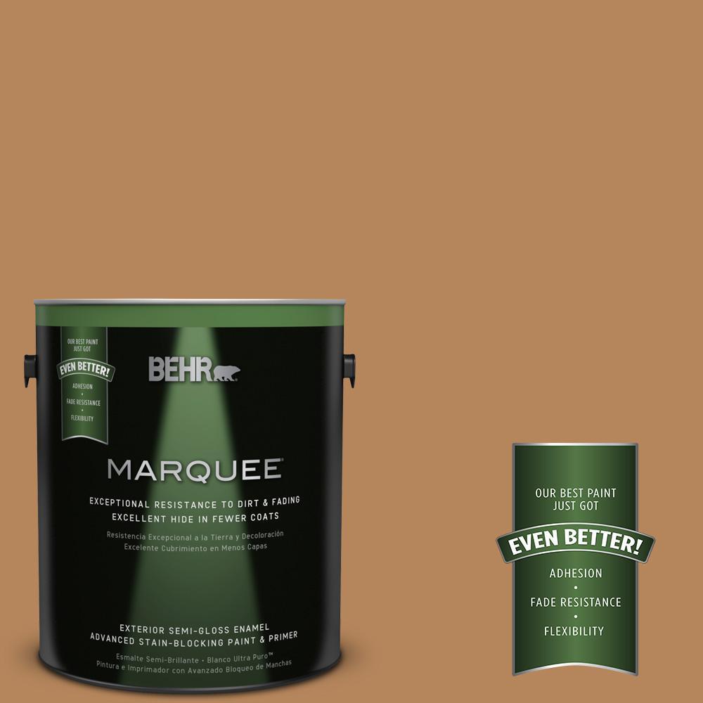 1-gal. #S270-6 Almond Brittle Semi-Gloss Enamel Exterior Paint