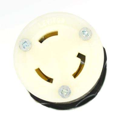 277 volt black 30 amp electrical plugs & connectors wiring  30 amp 277 480 volt 3 phase locking grounding connector, black