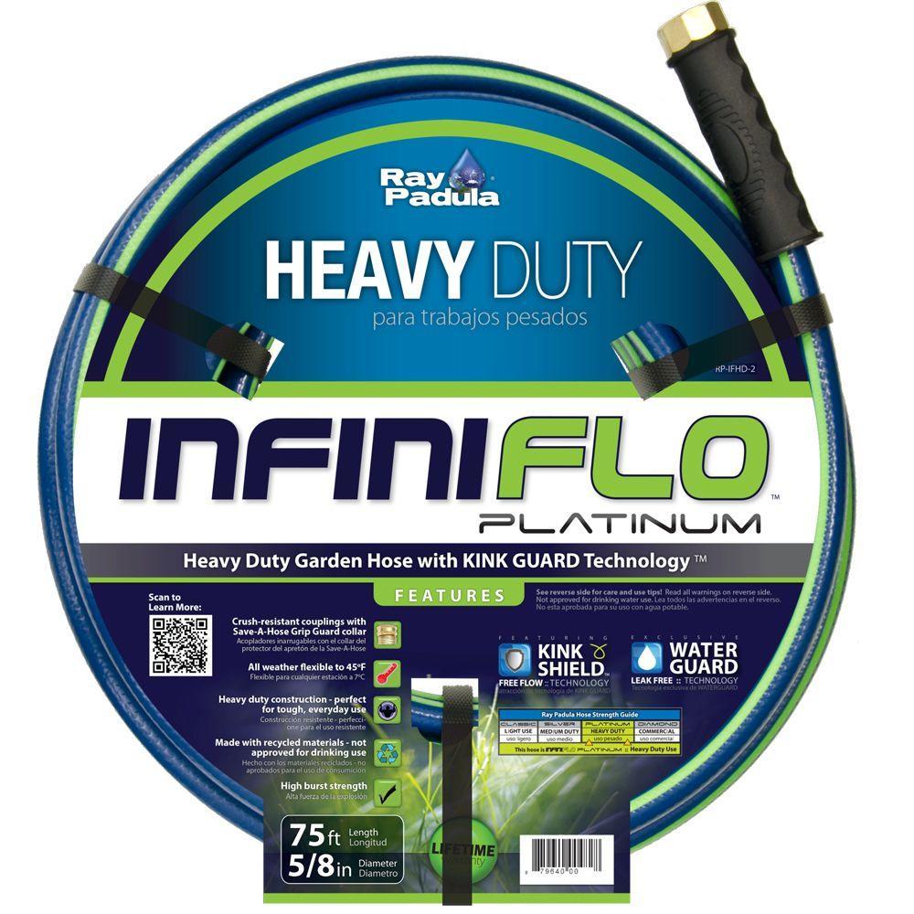 InfiniFlo 5/8 in. Dia x 75 ft. Heavy Duty Garden Hose