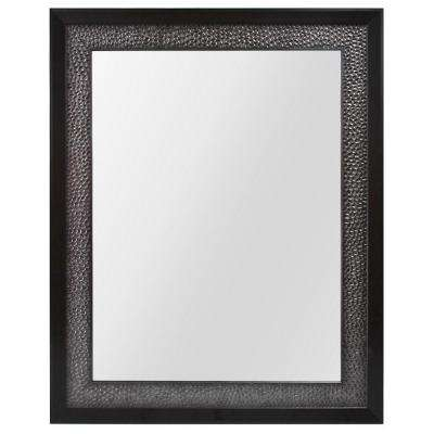 23 in. W x 29 in. L Framed Fog Free Wall Mirror in Pewter and Espresso