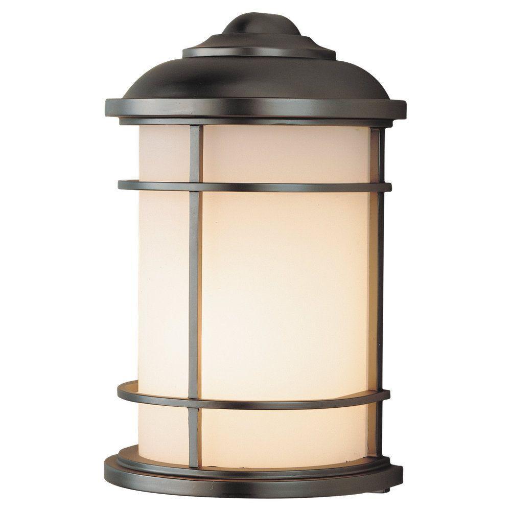 Lighthouse 1-Light Burnished Bronze Outdoor Wall Lantern