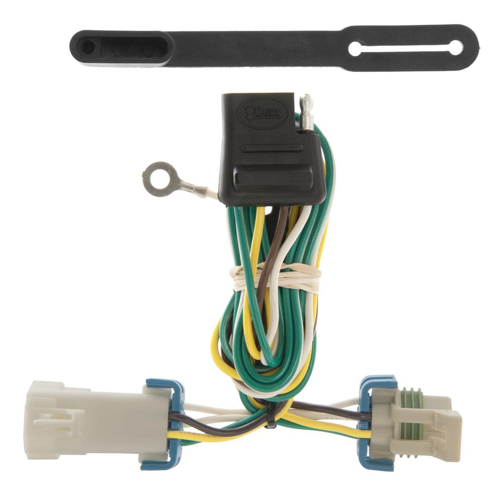 CURT Custom Vehicle-Trailer Wiring Harness, 4-Way Flat, Select Chevrolet S- 10, GMC Sonoma, Isuzu Hombre, Quick T-Connector-55359 - The Home DepotThe Home Depot