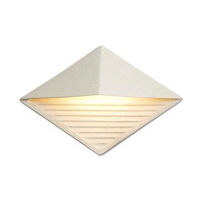 Ambiance Diamond White Crackle Outdoor Integrated LED Sconce