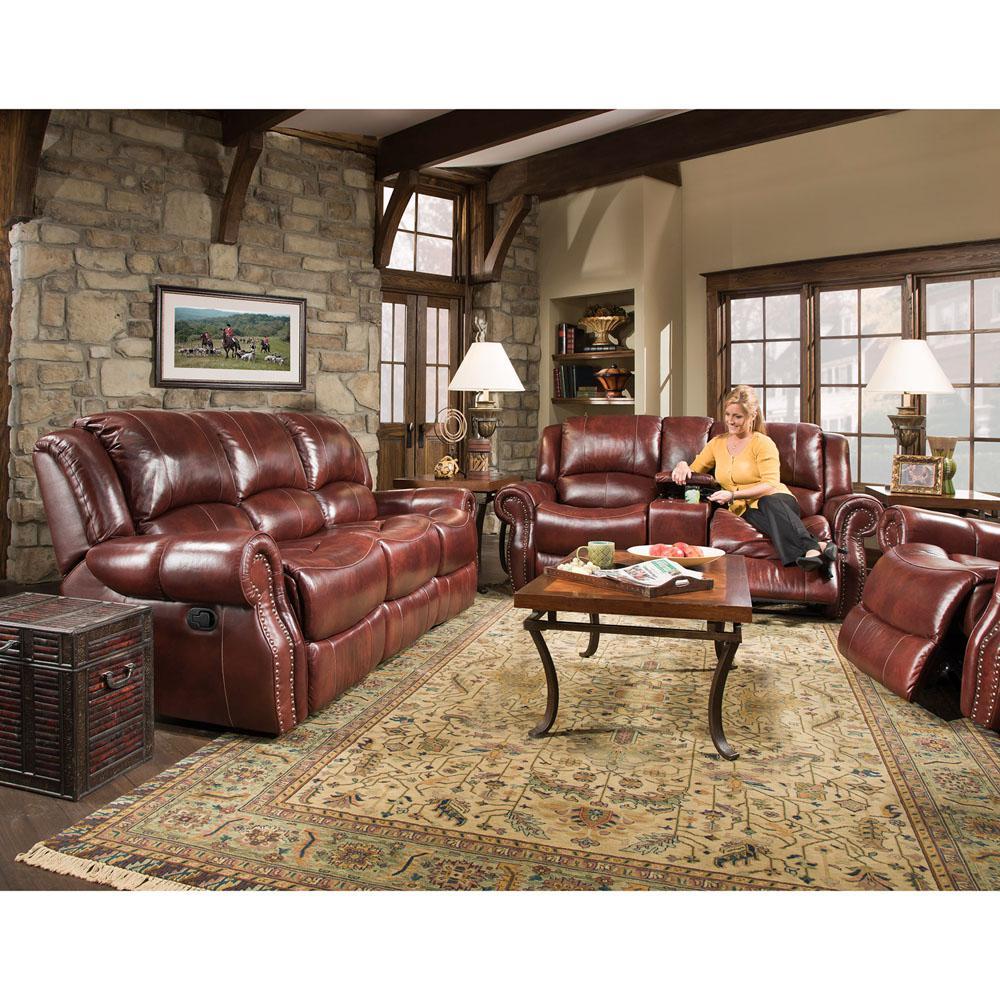 Piece Oxblood Living Room Sofa