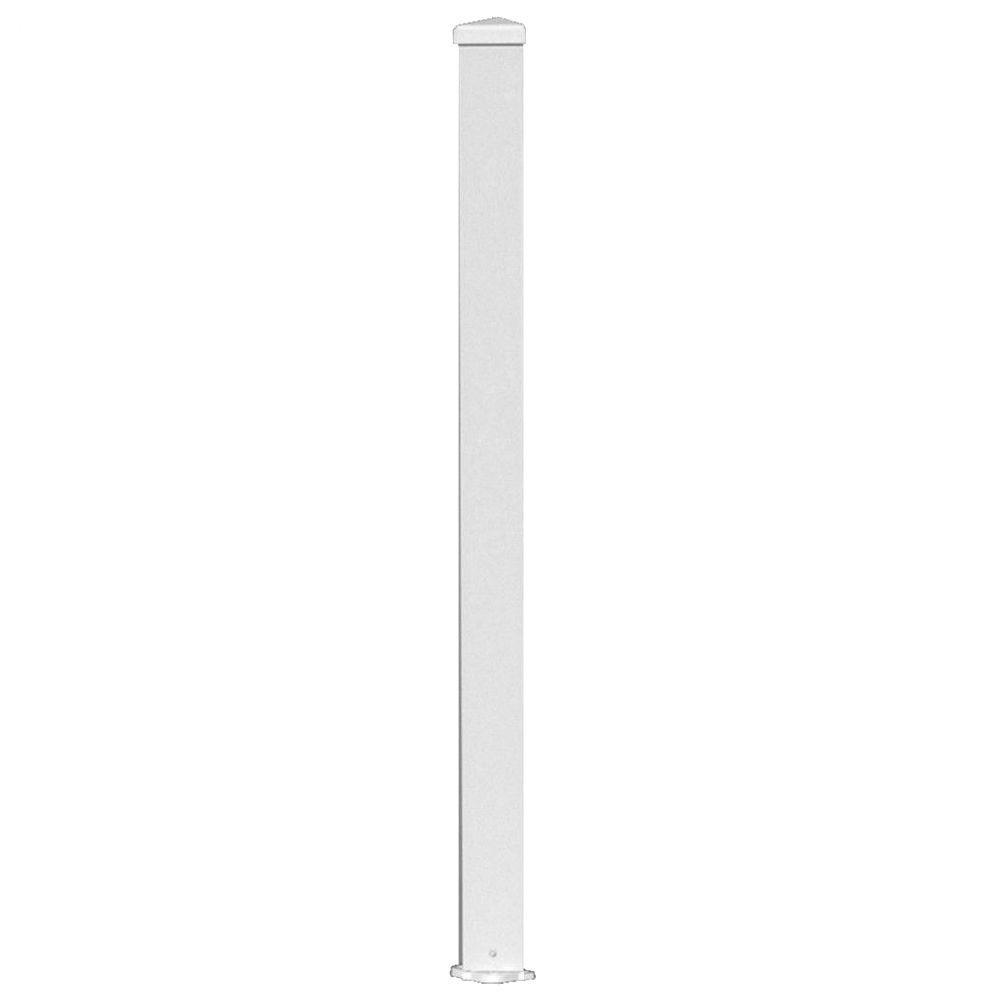 3 in. x 3 in. x 72 in. White Aluminum Structural