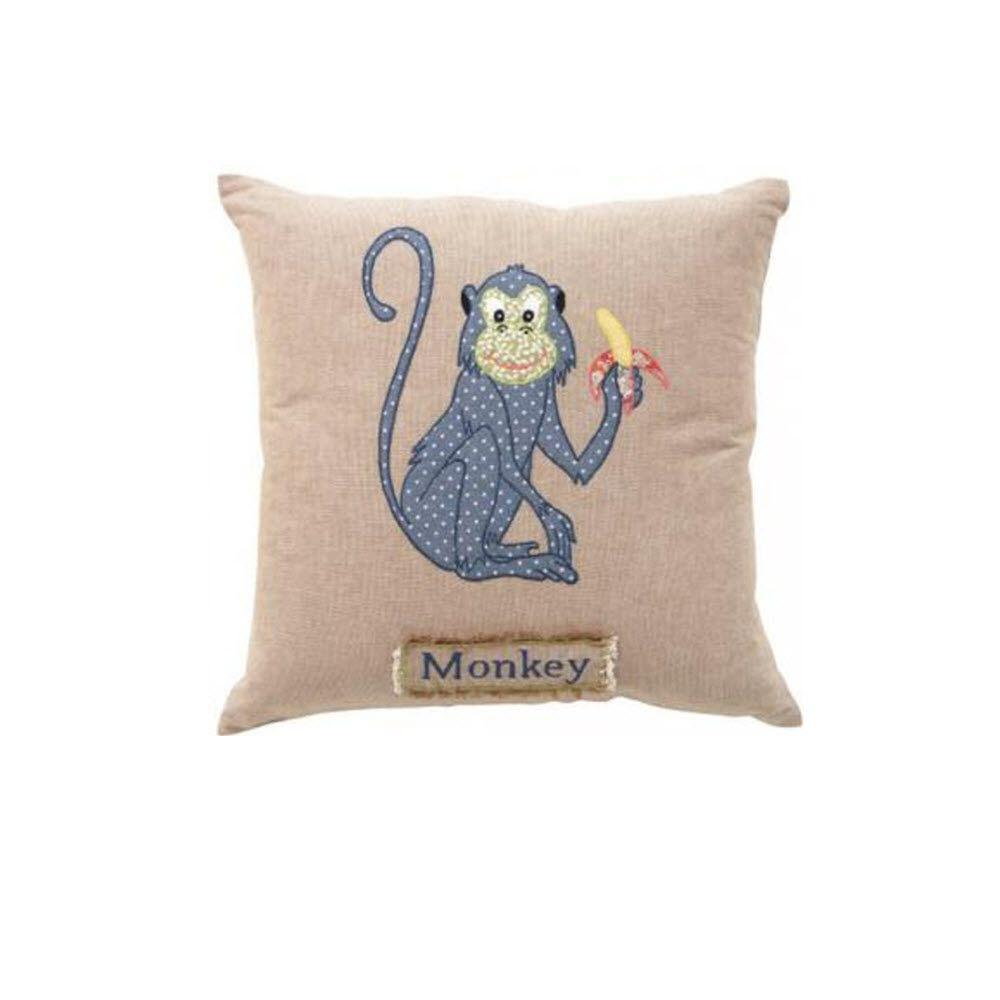 Home Decorators Collection Monkey 18 in. Square Decorative Pillow-1861100830 - The Home Depot