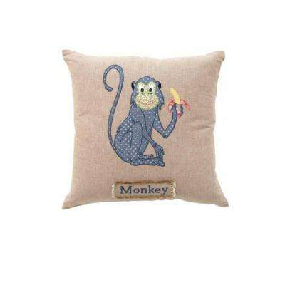 Monkey 18 in. Square Decorative Pillow