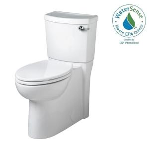 American Standard Cadet 3 FloWise Tall Height 2-piece 1.28 GPF Elongated Toilet with Seat and Concealed Trapway in White by American Standard