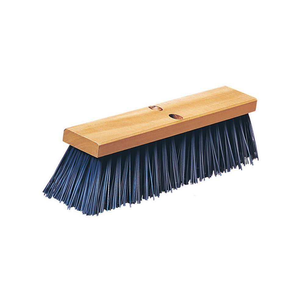 24 in. Blue Polypropylene Heavy Weight Street Sweep (6-Case)