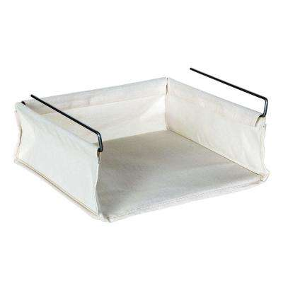 12 in. x 5 in. More Inside Under Shelf Fabric Basket