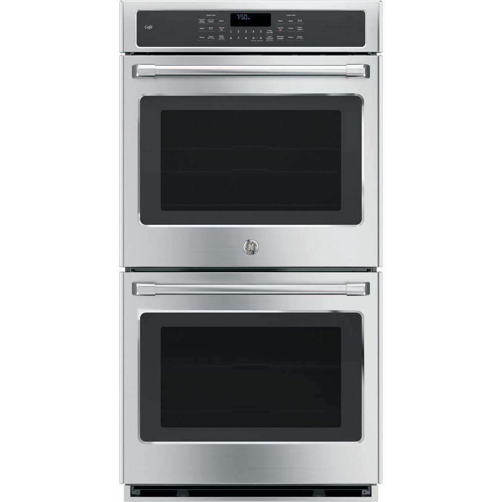 Double Electric Smart Wall Oven Self Cleaning With Convection And Wifi In Stainless Steel Ck7500shss The Home Depot