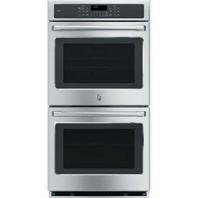 27 in. Double Electric Smart Wall Oven Self-Cleaning with Convection and WiFi in Stainless Steel