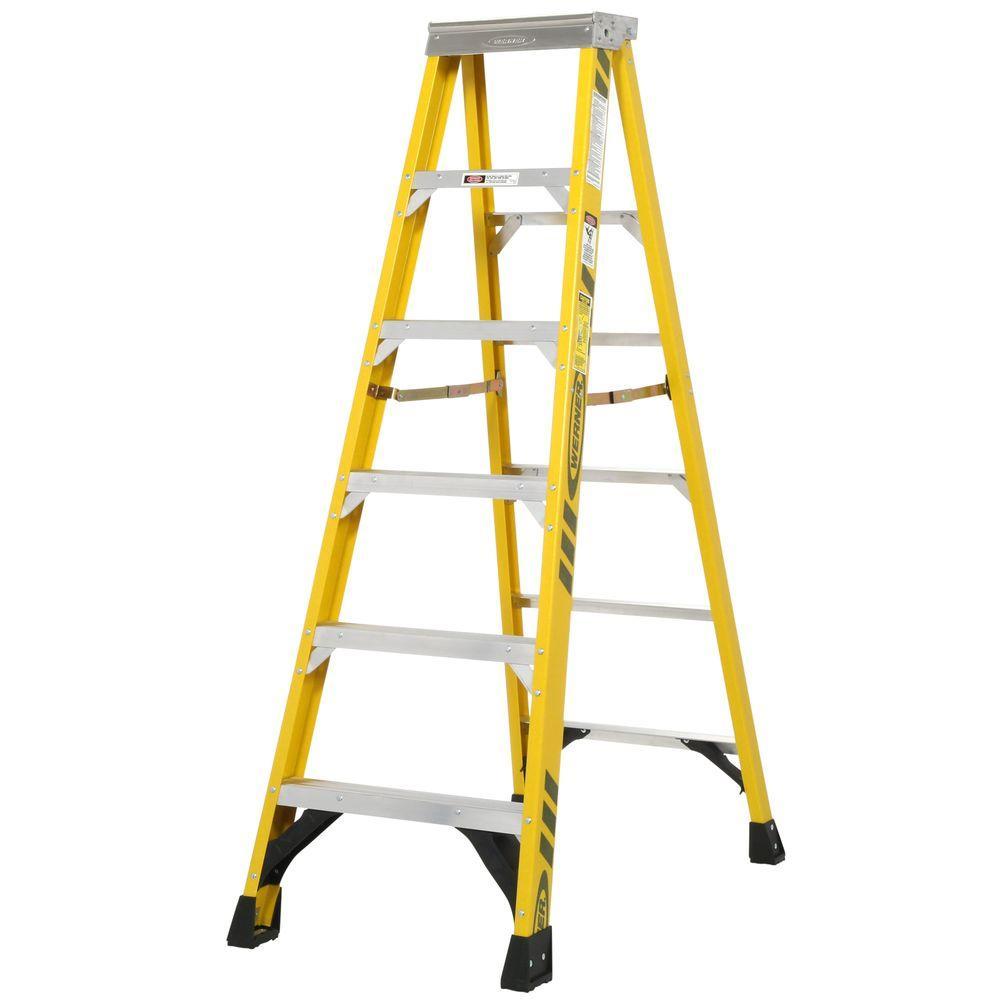 fiberglass step ladder with 375 lb load capacity type iaa duty rating