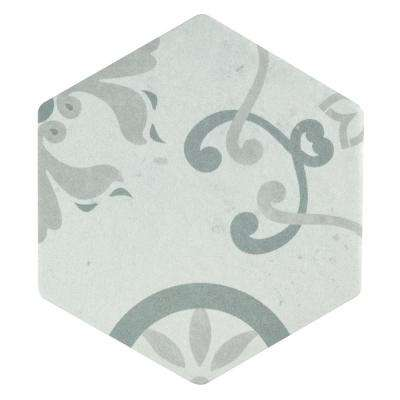 Odda Hex Decor Trium Encaustic 5-7/8 in. x 6-3/4 in. Porcelain Floor and Wall Tile (6.77 sq. ft. / case)