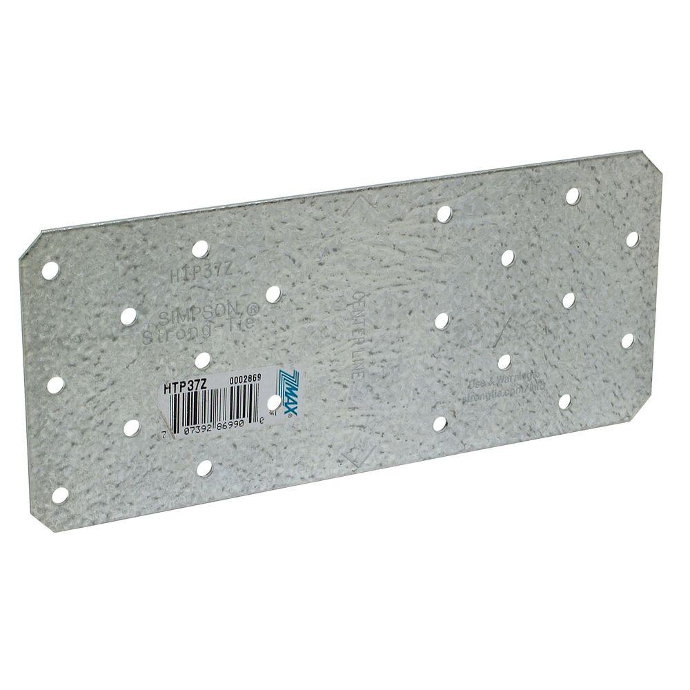 Simpson Strong-Tie HTP 3 in. x 7 in. ZMAX  Galvanized Heavy Tie Plate