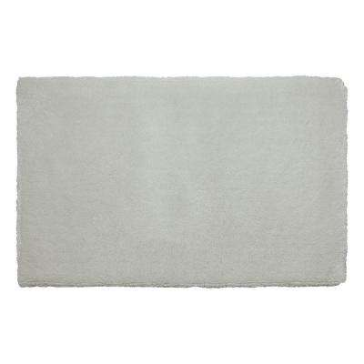 Pearl Plush Cream Puff 20 in. x 32 in. Bath Mat
