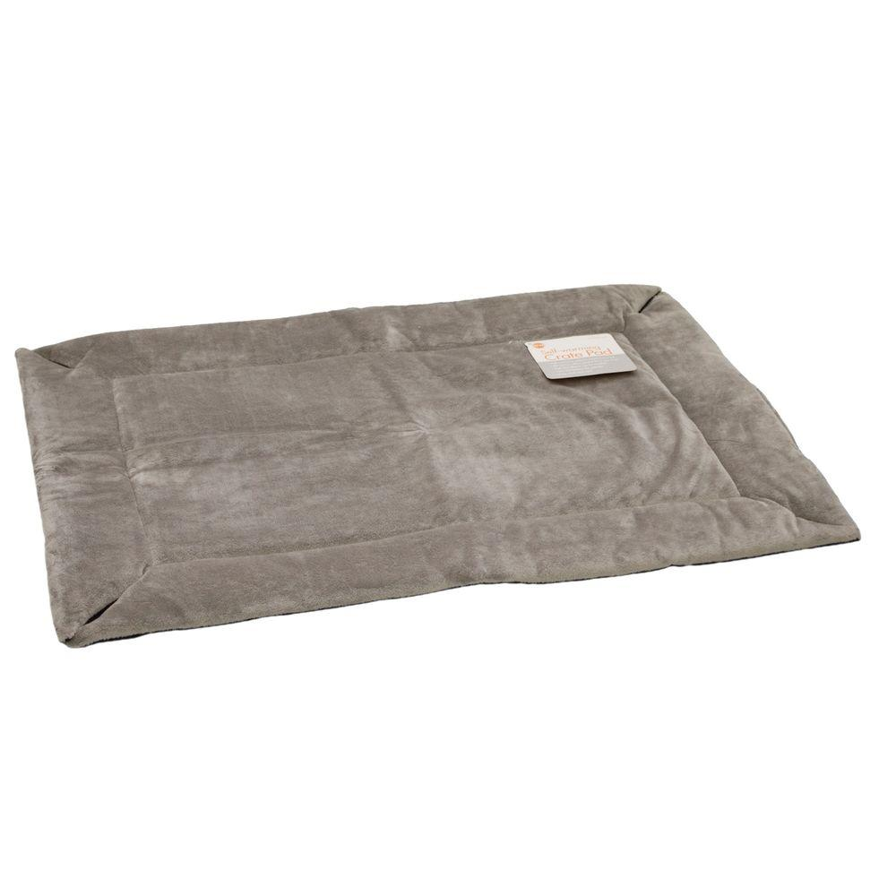 20 in. x 25 in. Small Gray Self-Warming Crate Pad