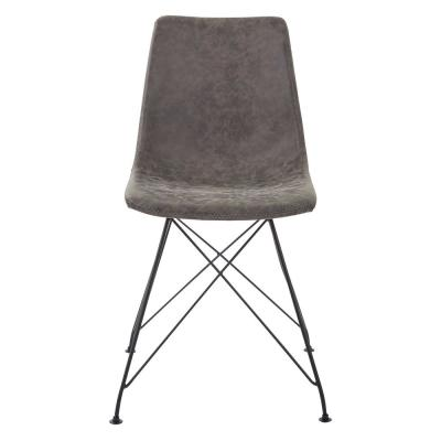 Trenton Chair in Charcoal Faux Leather (2-Count)