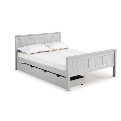 Harmony Dove Gray Full Bed with Storage Drawers