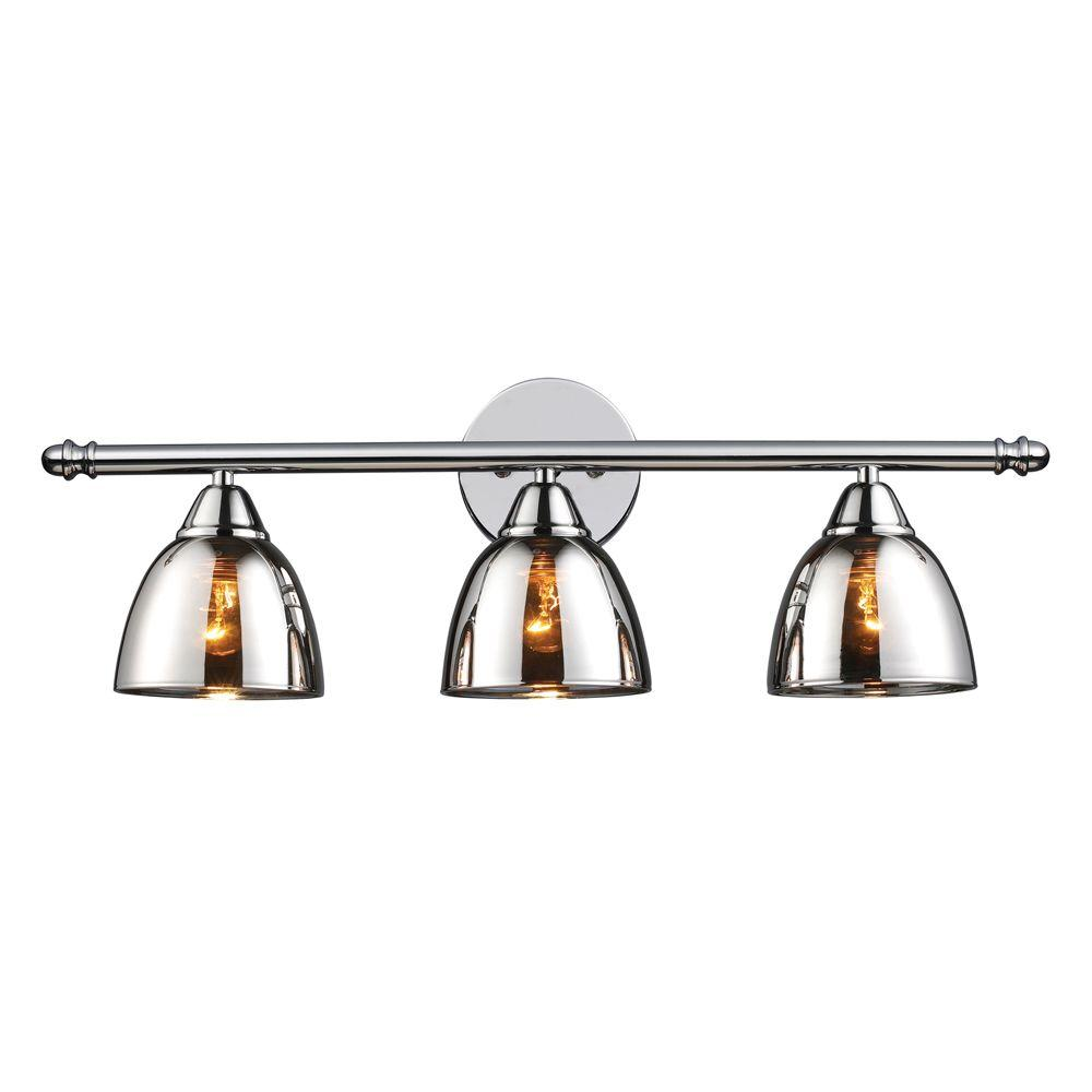 Titan lighting reflections 3 light black chrome vanity light tn 6341 titan lighting reflections 3 light black chrome vanity light aloadofball Image collections