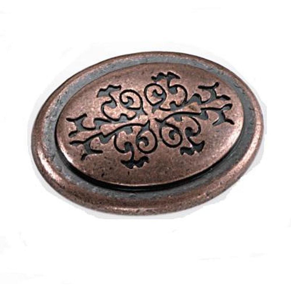 Cimarron 1-3/8 in. Antique Copper Oval Cabinet Knob