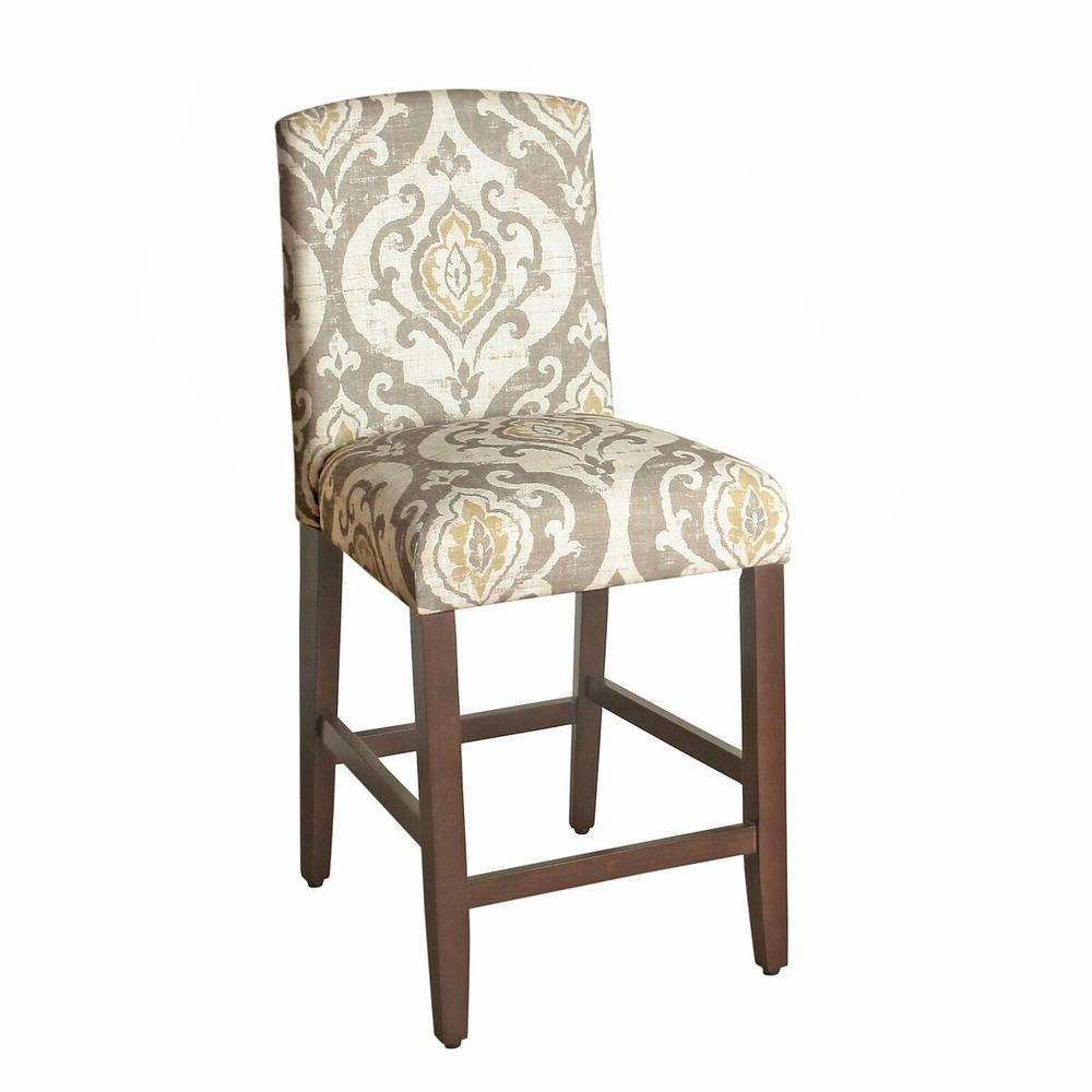 Upholstered 24 in. Tan Bar Stool