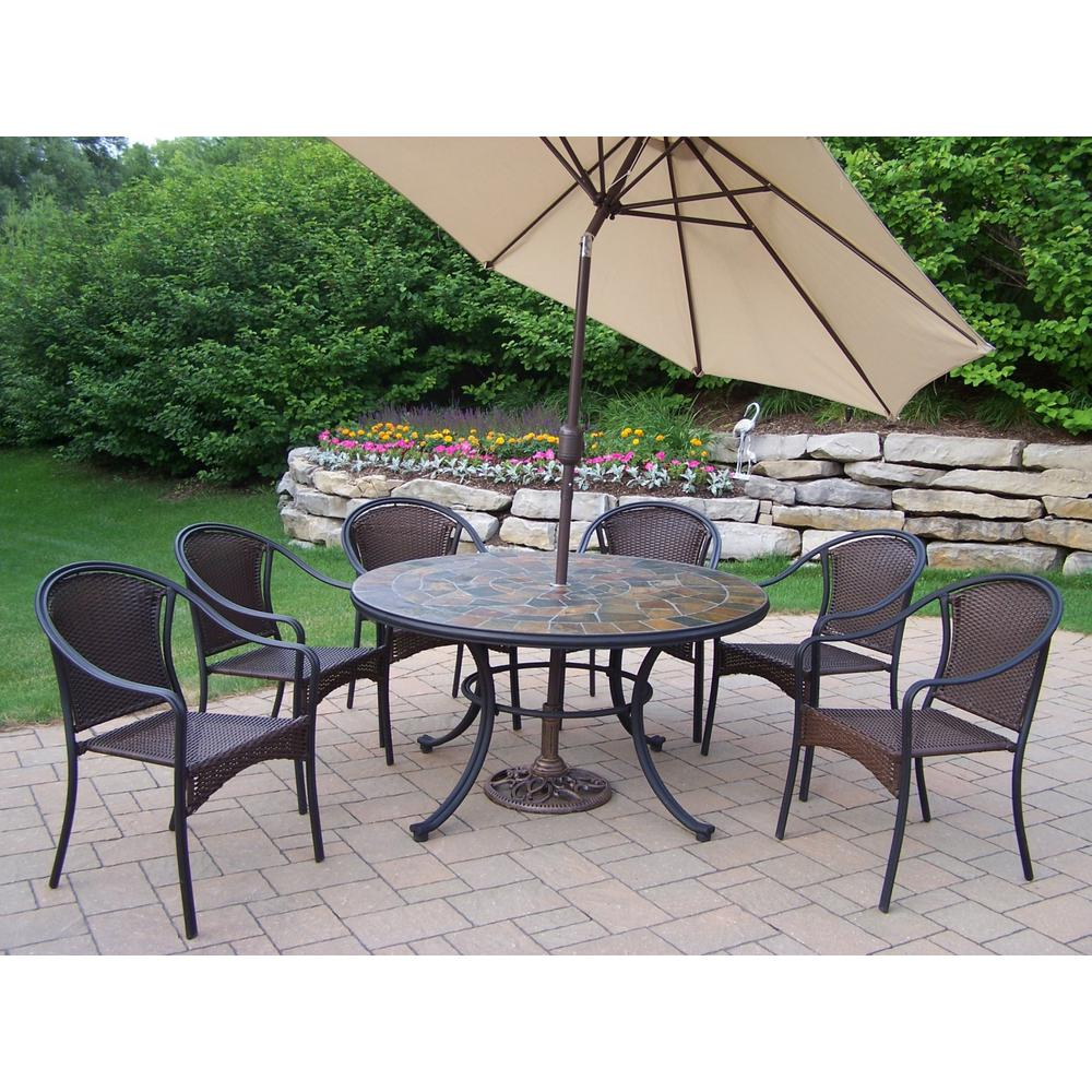 dining piece size person clearance of sets patio walmart outdoor for furniture set sunbrella full