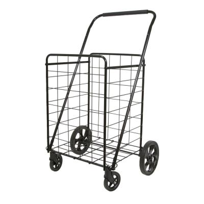 Black Metal Cleaning Cart with Super Deluxe Swiveler