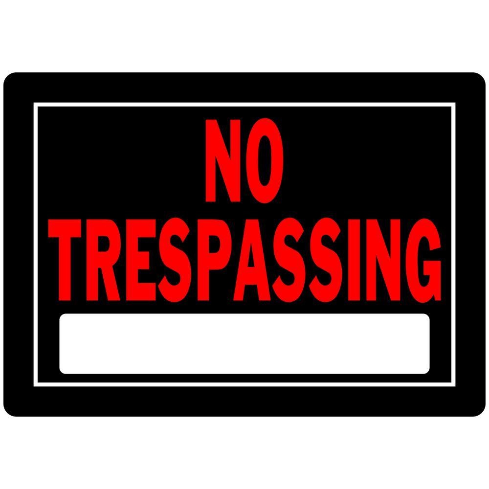 Everbilt 10 in. x 14 in. Aluminum No Trespassing Sign