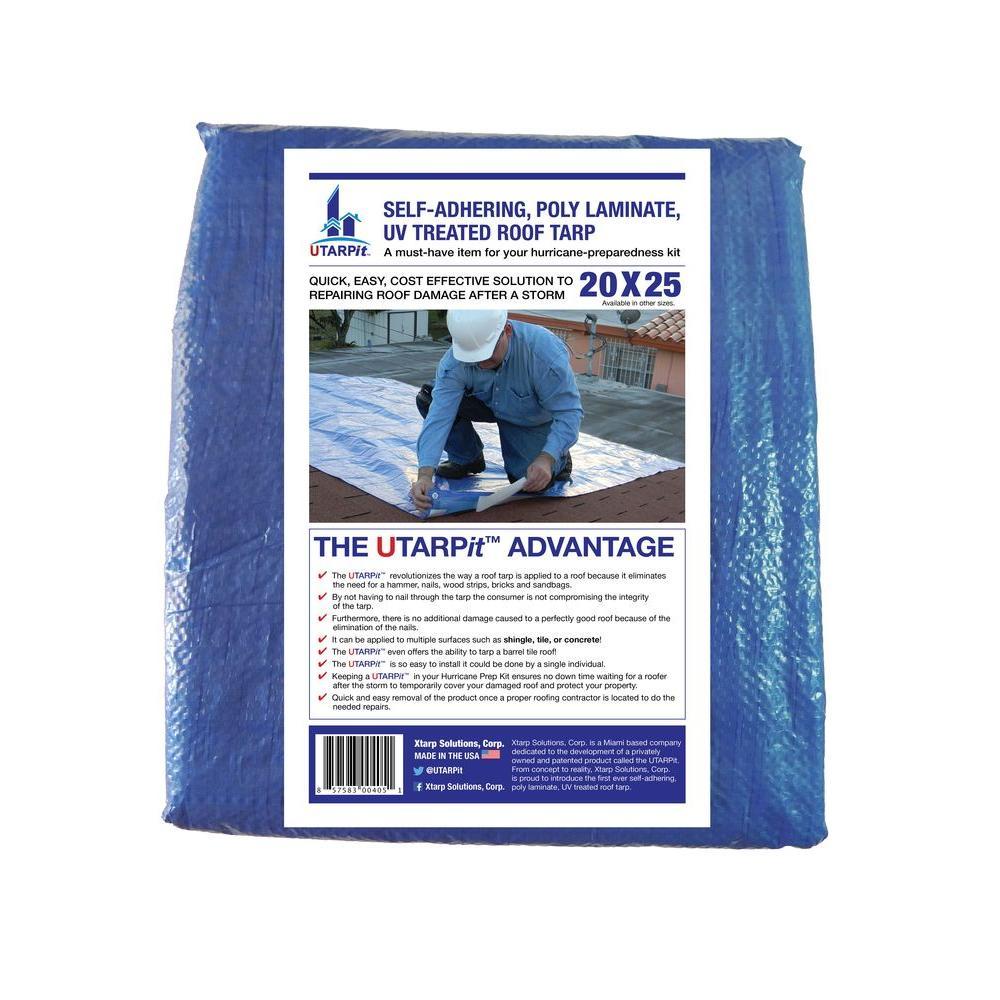 UTARPit 12 ft x 16 ft Blue Roofing Tarp BT1216 The Home Depot