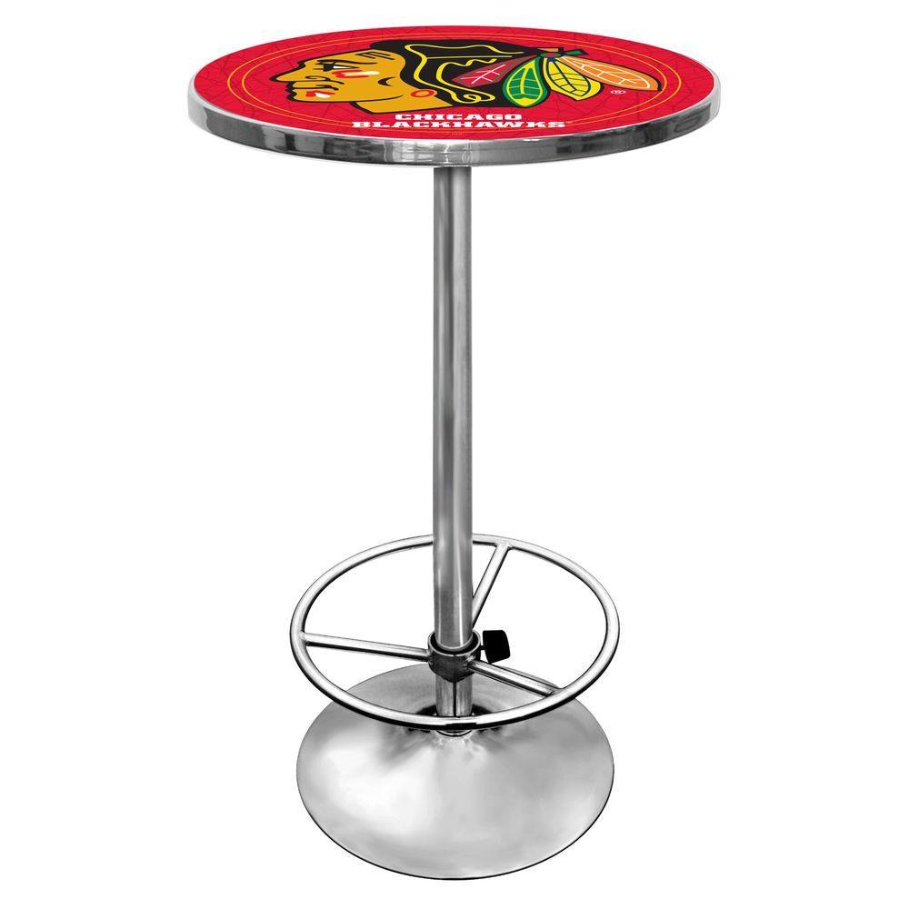 Trademark NHL Chicago Blackhawks 42 in. H Pub Table