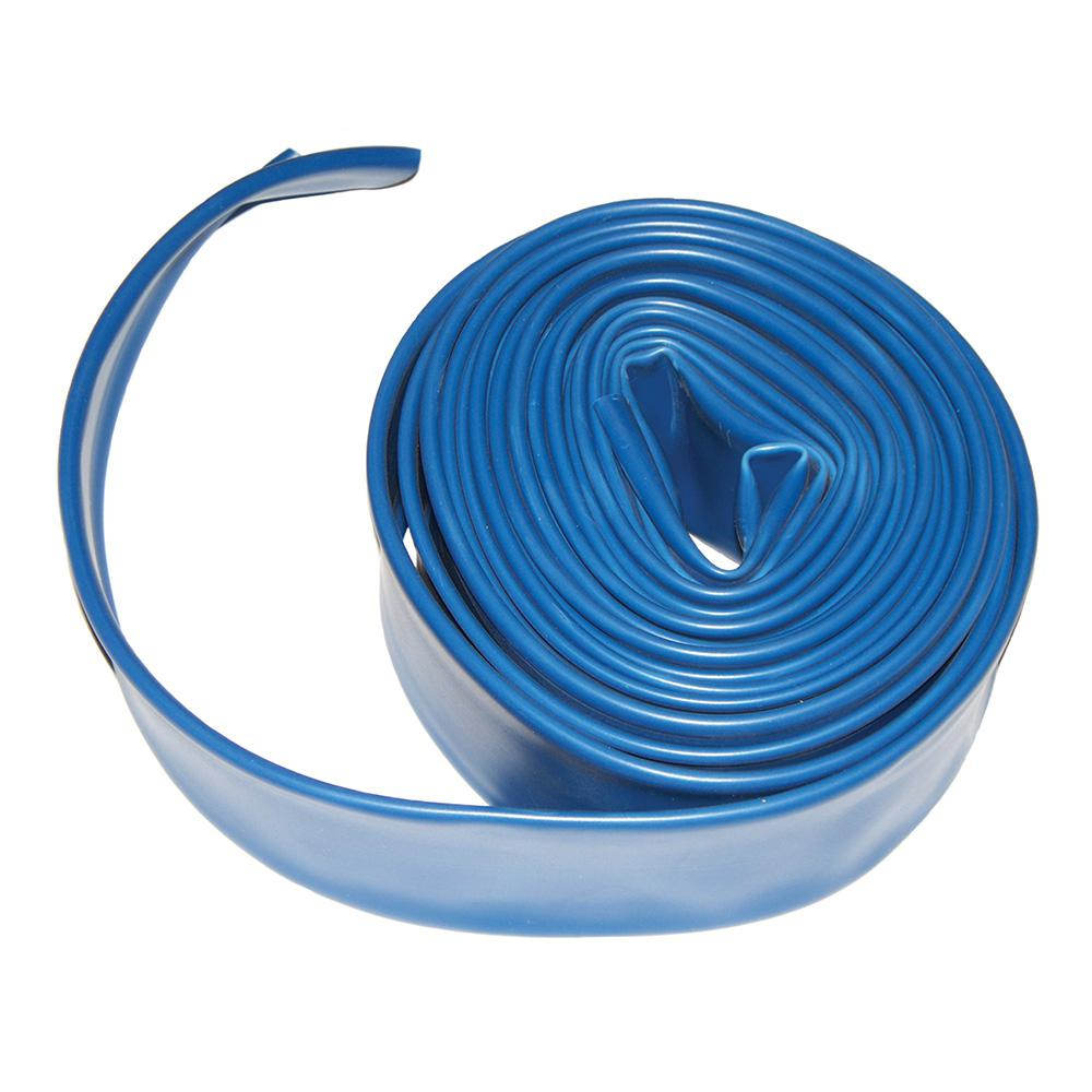 Plastiflex 2 in. x 50 ft. Flat Backwash Hose with Clamp-AD2X50 - The ...