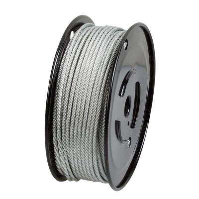 3/16 in. x 250 ft. Galvanized Steel Plated Uncoated Wire Rope