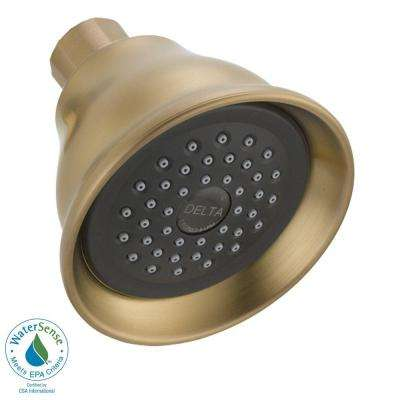 Lahara 1-Spray 3.38 in. Fixed Shower Head in Champagne Bronze