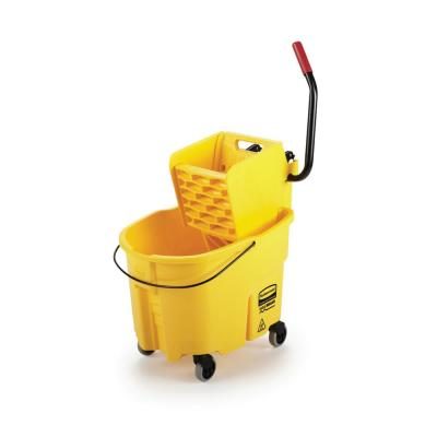 WaveBrake 35 Qt. Plastic Mop Bucket with Wringer