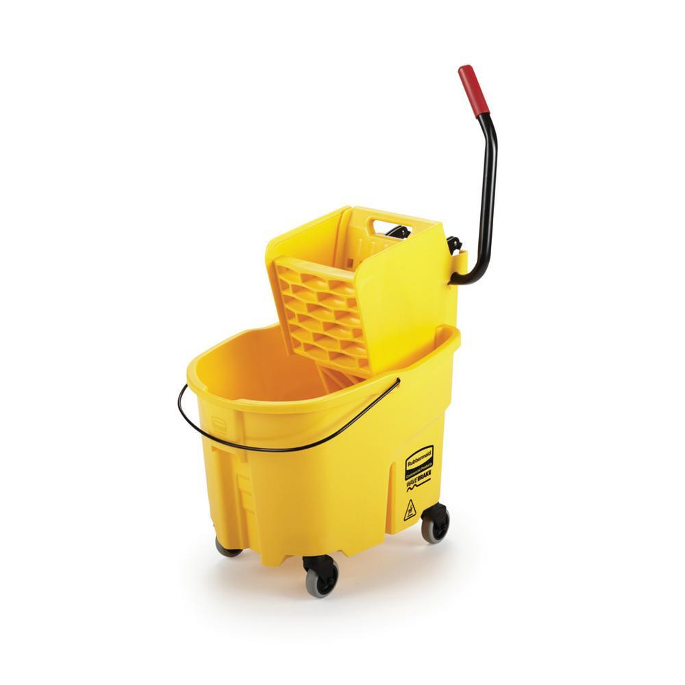 WaveBrake 35 Qt. Plastic Mop Bucket with Wringer