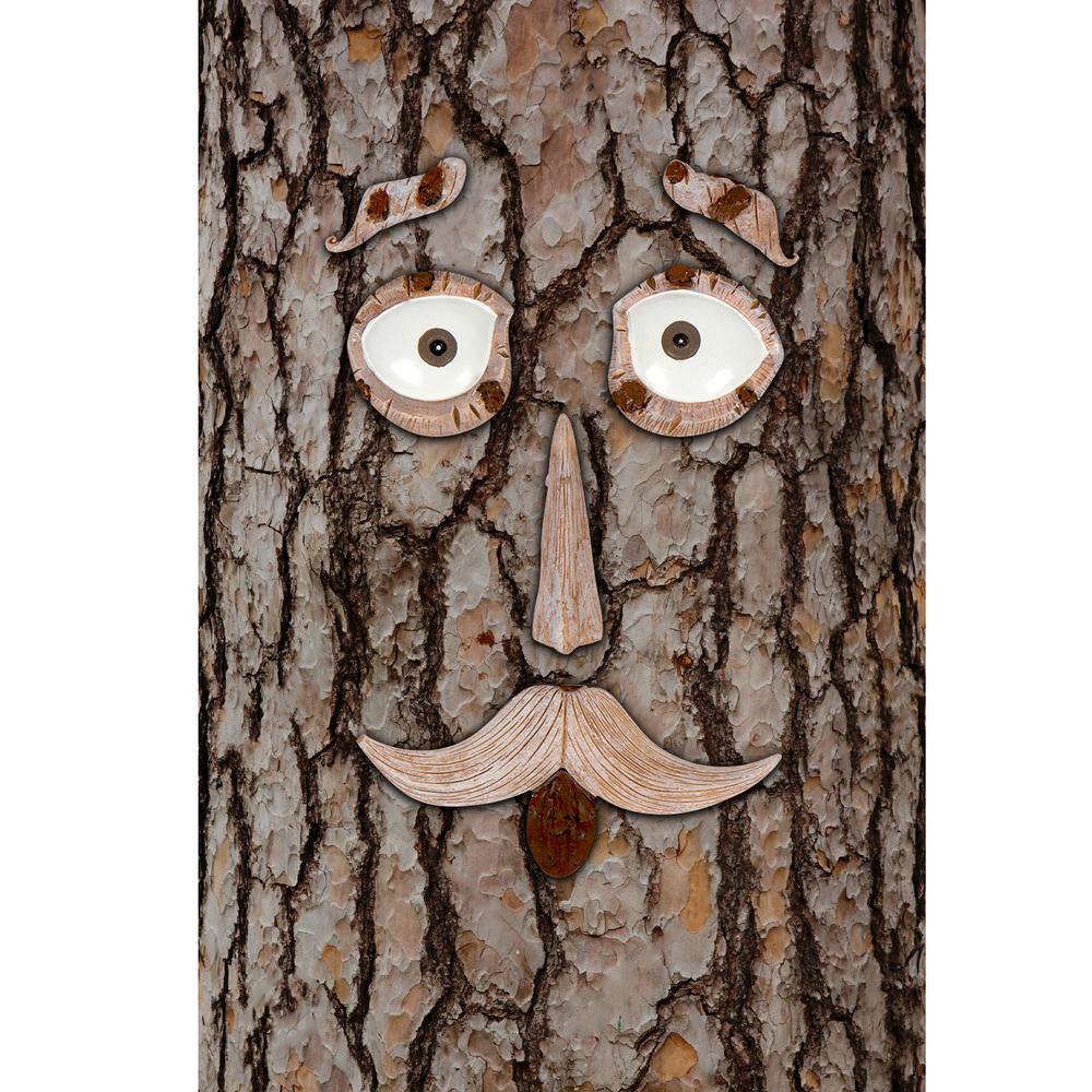 Whimsical Outdoor Garden Tree Face Decoration Set (6-Piece)