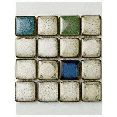 Essence Square Cascade Porcelain Mosaic Tile - 3 in. x 4 in. Tile Sample