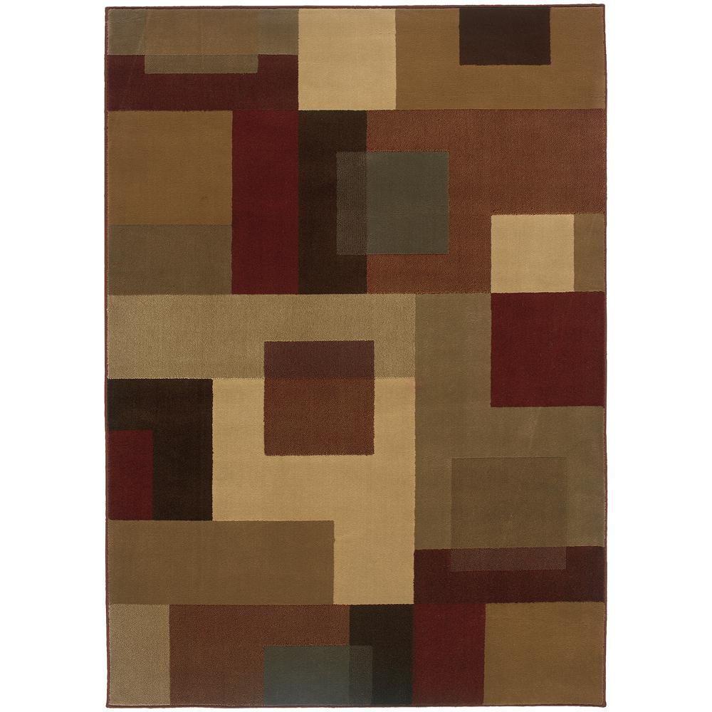 Aspect Beige/Multi 5 ft. x 7 ft. 6 in. Area Rug